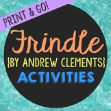 Frindle Novel Unit Study Activities, Book Companion Worksh
