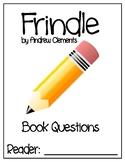 Frindle Novel Study - DRA 40