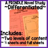 Frindle Novel Study Half Sheets!
