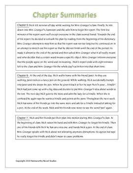Frindle Novel Study Teaching Guide