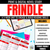 Frindle Novel Study Unit - Comprehension Trifolds & Vocabulary Activities