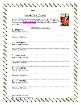 Frindle Novel Study: Vocab, Comprehension, Literary Devices