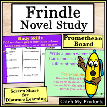 Frindle Novel Study for Intellectually Gifted Students on Promethean Board