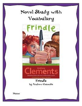Frindle Novel Study with Vocabulary
