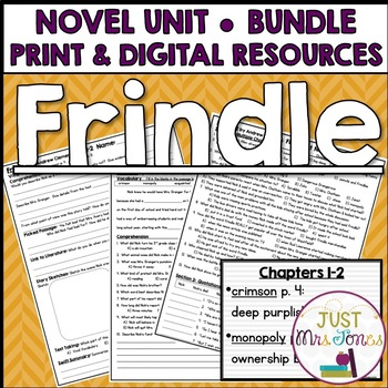 Frindle Novel Unit