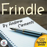 Frindle Novel Study Book Unit Printable and for Google Drive Distance Learning