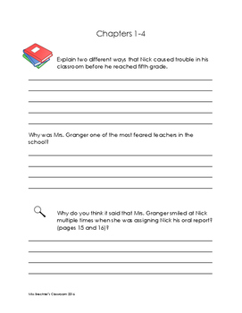 Frindle Novel Unit Comprehension and Vocabulary Packets and Tests