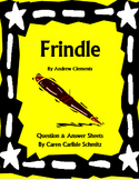 Frindle Question and Answer Sheet by Andrew Clements (830 Lexile)