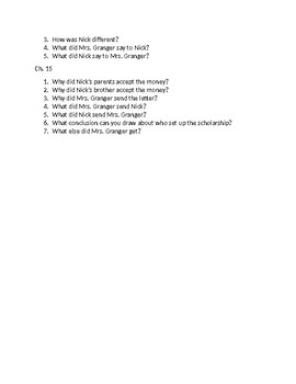 Frindle Questions