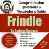 Frindle Questions and Vocabulary Guide