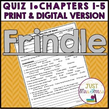 Frindle Quiz 1 (Ch. 1-5)