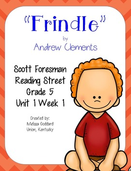 Frindle : Reading Street Scott Foresman : Grade 5 : Over 100 pages!