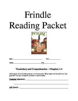 Frindle Student Reading Guide