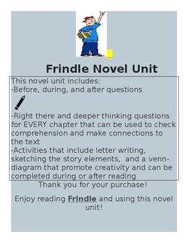 Frindle Study Unit