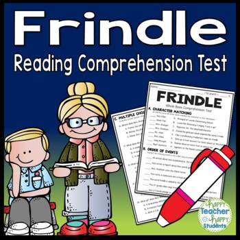 Frindle Test: Final Book Quiz with Answer Key