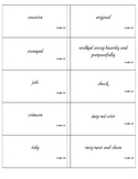 Frindle Vocabulary Cards