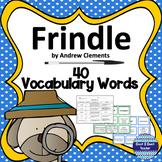 Frindle Vocabulary Words