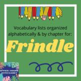 Frindle Vocabulary List