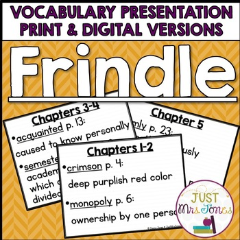 Frindle Vocabulary Presentation