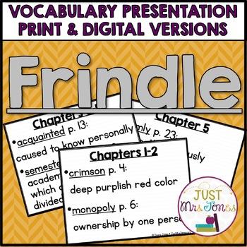 Frindle Vocabulary Presentation