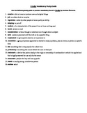 Frindle Vocabulary Study Guide