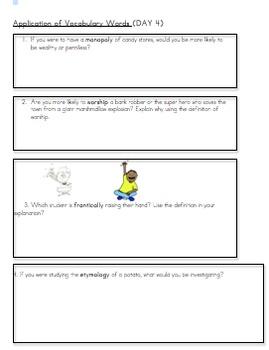Frindle Vocabulary Unit