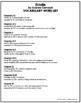 Frindle Vocabulary Word List