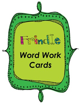 Frindle Word Work Cards