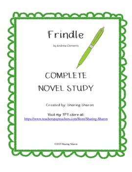Frindle by Andrew Clements - A complete Novel Study