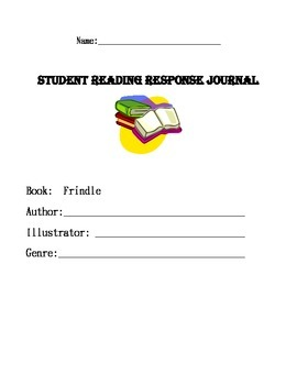 Frindle by Andrew Clements Reading Response Journal- Common Core Based