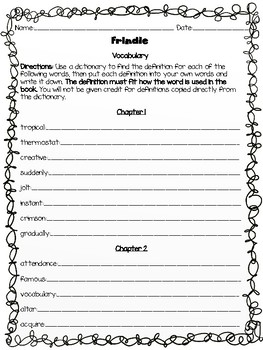 Frindle by Andrew Clements - Vocabulary