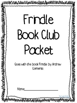 Frindle by Andrew Clements book club packet