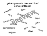 Frio by Alex Ubago - Interpretive Listening Activity