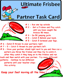 Physical Education - Frisbee Partner Task Card