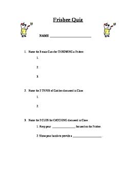 Frisbee Quiz