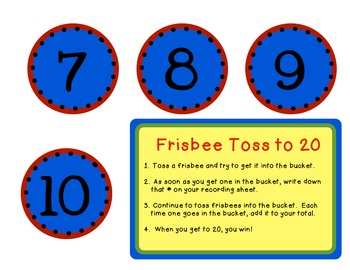 Frisbee Toss to 20 & 50