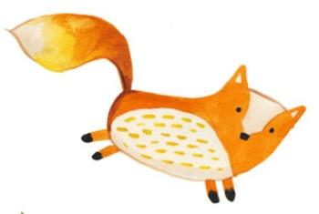 Frisky Foxes FREE CLip Art