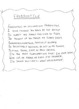 Frobscottle Poem with the BFG