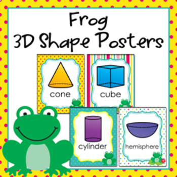Frog 3D Shape Posters