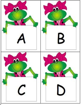 Frog ABC Flash Cards - Teacher and Student sizes