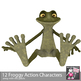 Frog Action Verb Clipart - Funny Frog Actions