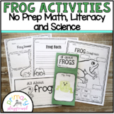 Frog Activities No Prep Math, Literacy and Science Pack