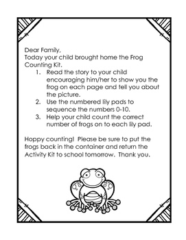 Frog Activity Kit--Counting Sets to 10