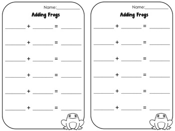 Frog Adding and Subtracting