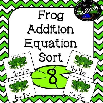 Frog Addition Equation Sort