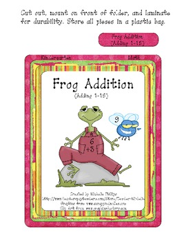 Frog Addition! - Kindergarten