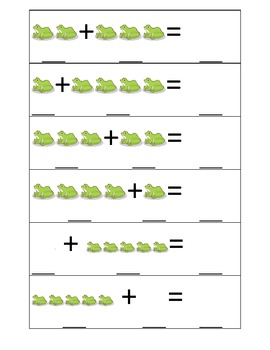 Frog Addition Practice