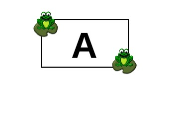 Frog Alphabet Cards (Library signs, group signs, etc)