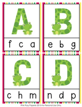Frog Alphabet Clip Cards