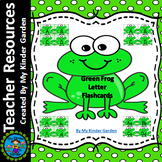Green Frog Alphabet Letter Flashcards